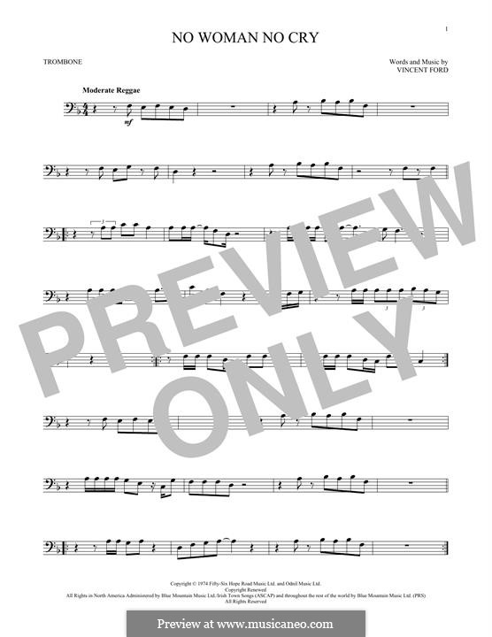 No Woman No Cry (Bob Marley): For trombone by Vincent Ford