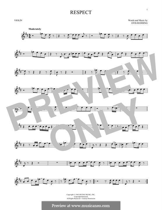 Respect (Aretha Franklin): For violin by Otis Redding