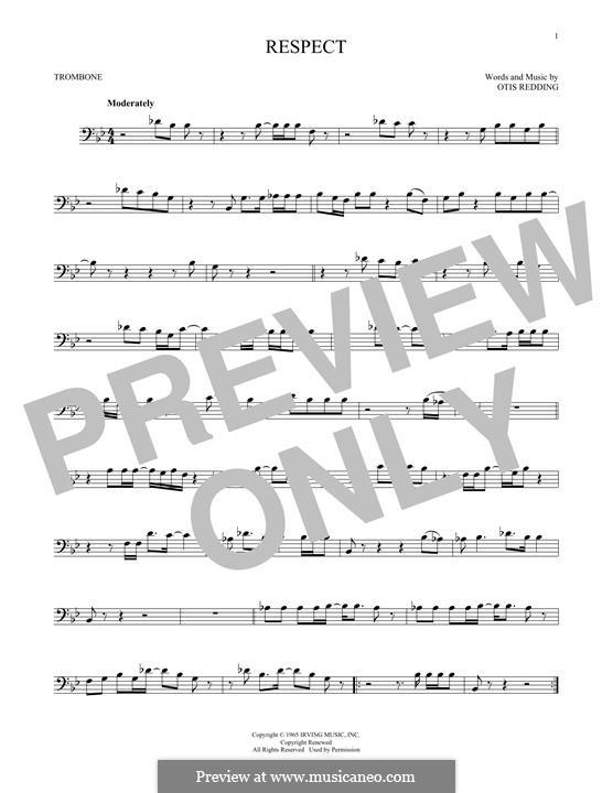 Respect (Aretha Franklin): For trombone by Otis Redding