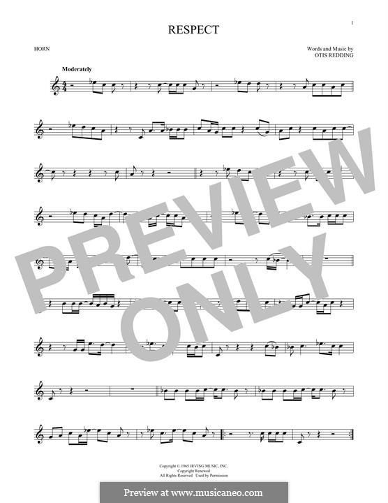 Respect (Aretha Franklin): For horn by Otis Redding