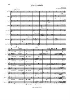 Crucifixus: For flute octet (or flute choir) 4 flutes, 2 alto flutes, 2 bass flutes by Antonio Lotti
