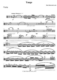 Tango: For viola and piano by Meri Dolevski-Lewis