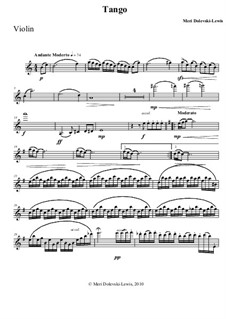 Tango: For violin and piano by Meri Dolevski-Lewis