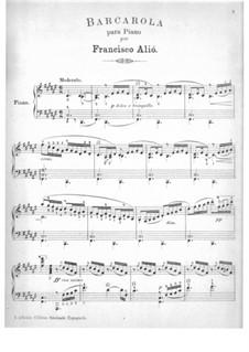 Barcarola in F Sharp Major: Barcarola in F Sharp Major by Francisco Alió