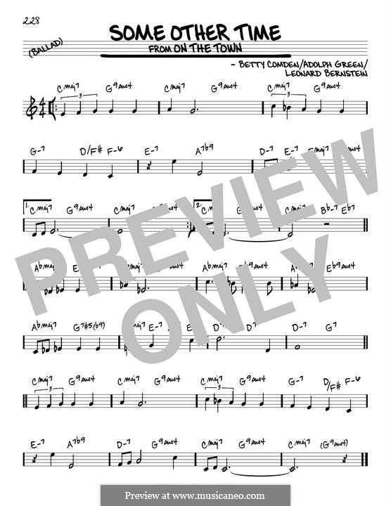 Some Other Time (from On The Town) : For guitar by Leonard Bernstein