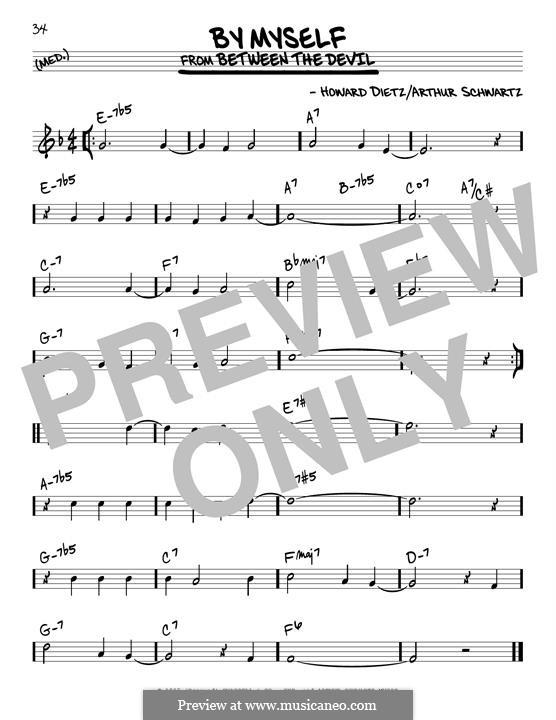 By Myself (Howard Dietz): For guitar by Arthur Schwartz