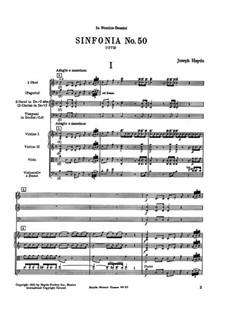 Symphony No.50 in C Major, Hob.I/50: Symphony No.50 in C Major by Joseph Haydn