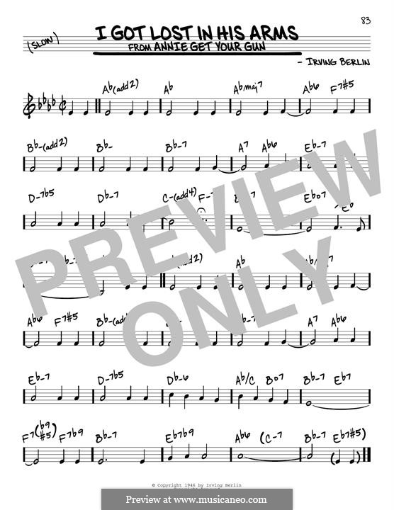 I Got Lost in His Arms: For guitar by Irving Berlin