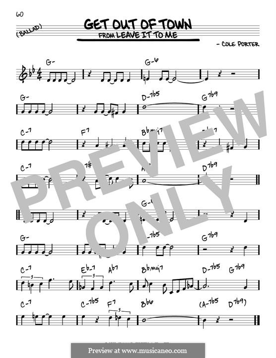 Get Out of Town: For guitar by Cole Porter