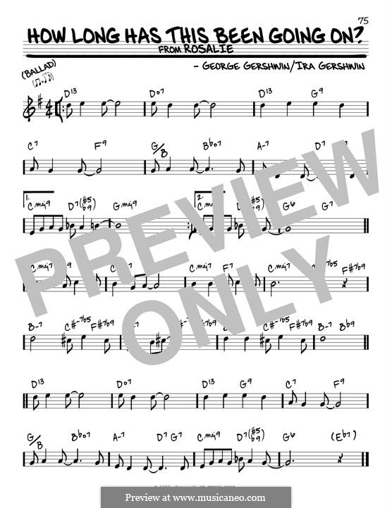 How Long Has This Been Going On?: For guitar by George Gershwin