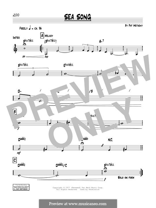 Sea Song: For instrument in B Flat by Pat Metheny