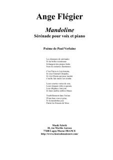 Mandoline for high voice and piano: Mandoline for high voice and piano by Ange Flégier