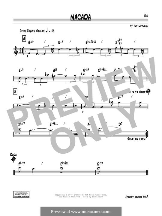 Nacada: For guitar by Pat Metheny