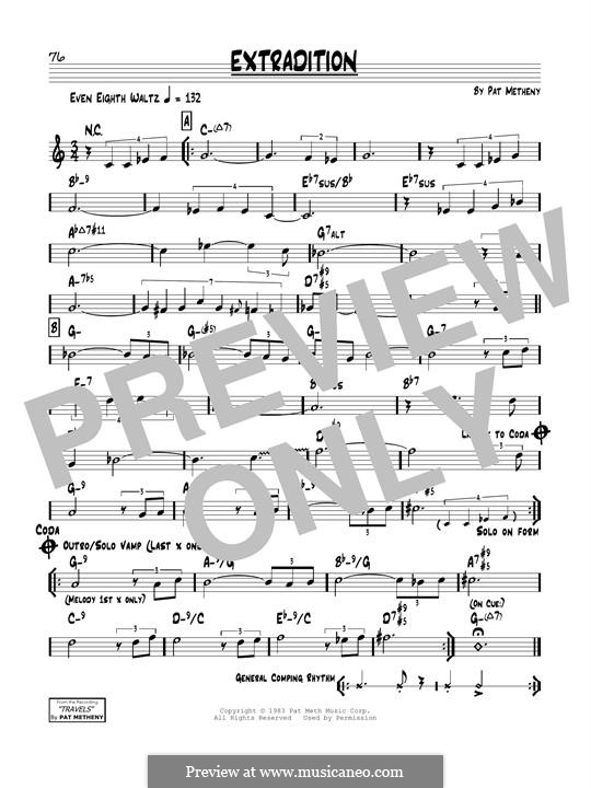 Extradition: For guitar by Pat Metheny