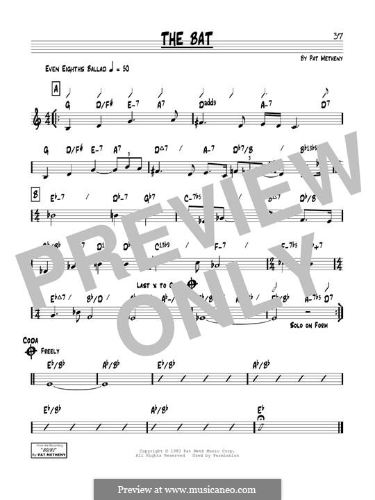 The Bat: For guitar by Pat Metheny