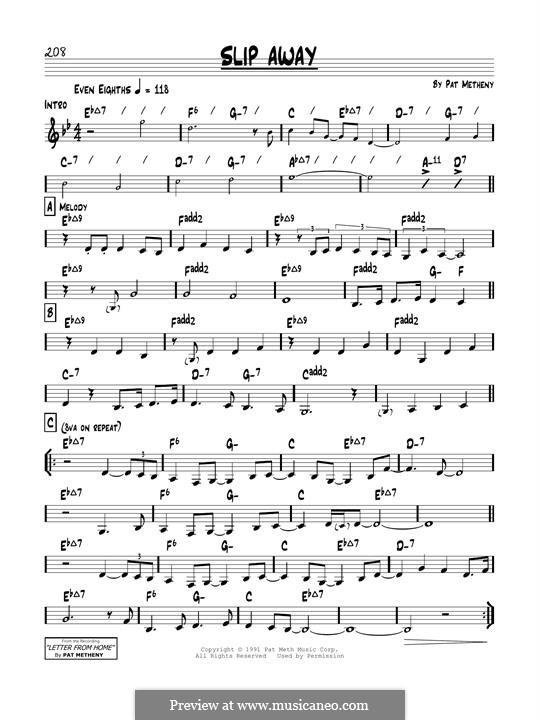 Slip Away: For guitar by Pat Metheny