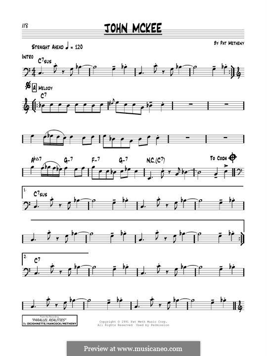 John McKee: For guitar by Pat Metheny