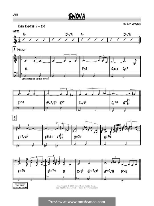 Snova: For guitar by Pat Metheny