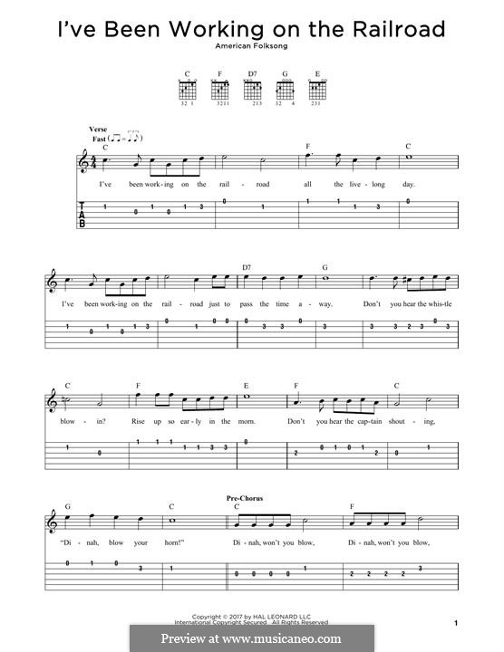 I've Been Working on the Railroad: For guitar by folklore
