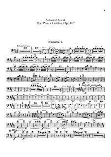 Vodník (The Water Goblin), B.195 Op.107: Bassoons parts by Antonín Dvořák