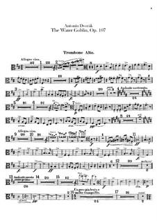 Vodník (The Water Goblin), B.195 Op.107: Trombones and tuba parts by Antonín Dvořák