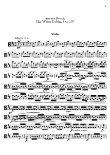 Vodník (The Water Goblin), B.195 Op.107: Viola part by Antonín Dvořák