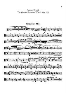 Zlatý kolovrat (The Golden Spinning Wheel), B.197 Op.109: Trombones and tuba parts by Antonín Dvořák