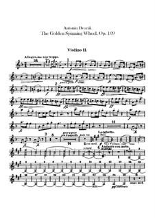Zlatý kolovrat (The Golden Spinning Wheel), B.197 Op.109: Violin II part by Antonín Dvořák