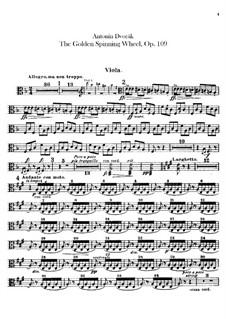 Zlatý kolovrat (The Golden Spinning Wheel), B.197 Op.109: Viola part by Antonín Dvořák