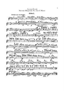 Rhapsody No.2 in G Minor: Flutes parts by Antonín Dvořák