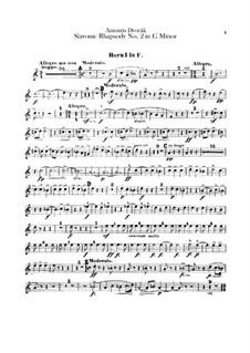 Rhapsody No.2 in G Minor: Horns parts by Antonín Dvořák