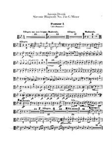 Rhapsody No.2 in G Minor: Trombones parts by Antonín Dvořák