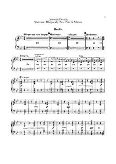 Rhapsody No.2 in G Minor: Harp part by Antonín Dvořák