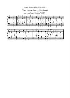 Vom Himmel hoch, da komm ich her (Choralsatz): Vom Himmel hoch, da komm ich her (Choralsatz) by Johann Hermann Schein