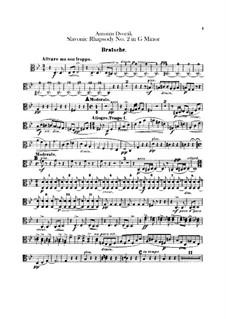 Rhapsody No.2 in G Minor: Viola part by Antonín Dvořák