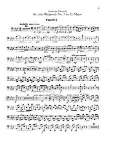 Rhapsody No.3 in A Flat Major: Bassoons parts by Antonín Dvořák