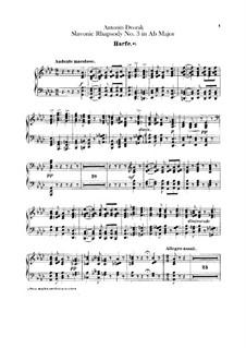 Rhapsody No.3 in A Flat Major: Harp part by Antonín Dvořák
