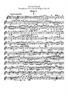 Symphony No.6 in D Major, B.112 Op.60: Oboes parts by Antonín Dvořák
