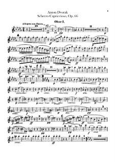 Scherzo Capriccioso, B.131 Op.66: Oboes and cor anglais parts by Antonín Dvořák