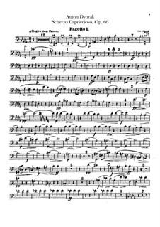 Scherzo Capriccioso, B.131 Op.66: Bassoons parts by Antonín Dvořák