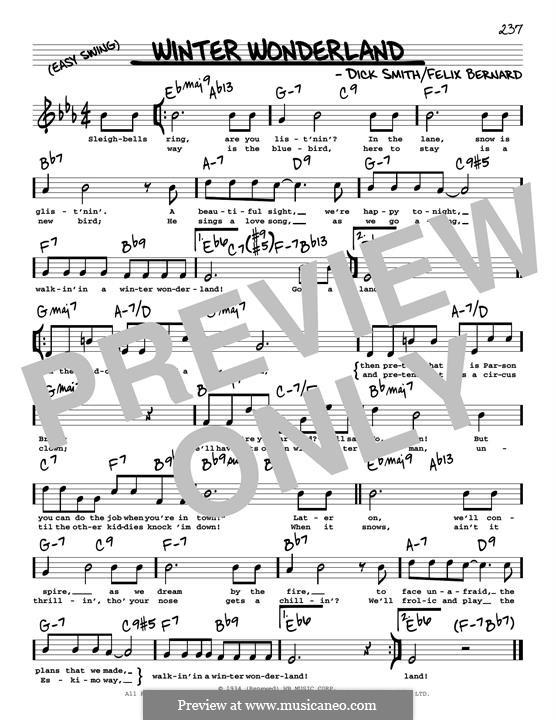 Winter Wonderland: For guitar by Felix Bernard