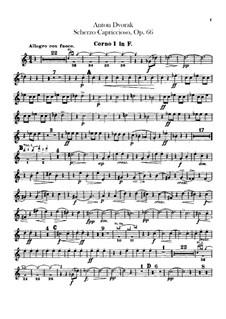 Scherzo Capriccioso, B.131 Op.66: Horns I, II parts by Antonín Dvořák