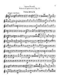 Scherzo Capriccioso, B.131 Op.66: Horns III, IV parts by Antonín Dvořák