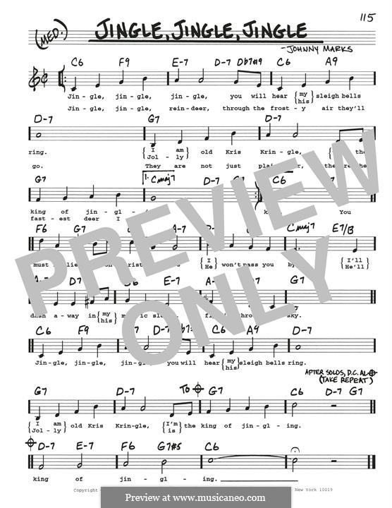 Jingle, Jingle, Jingle: For guitar by Johnny Marks