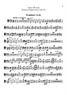 Scherzo Capriccioso, B.131 Op.66: Trombones parts by Antonín Dvořák