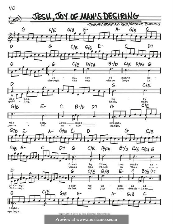 Jesu, Joy of Man's Desiring (Printable Scores): For guitar by Johann Sebastian Bach