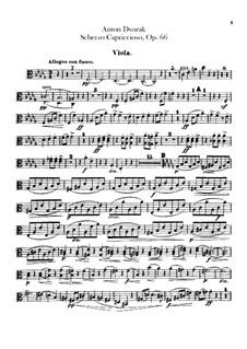 Scherzo Capriccioso, B.131 Op.66: Viola part by Antonín Dvořák