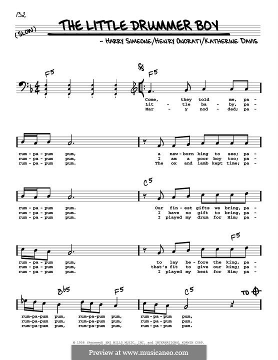 The Little Drummer Boy: For guitar by Harry Simeone, Henry Onorati, Katherine K. Davis
