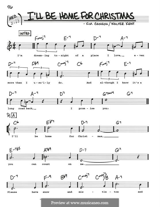 I'll Be Home for Christmas: For guitar by Kim Gannon, Walter Kent