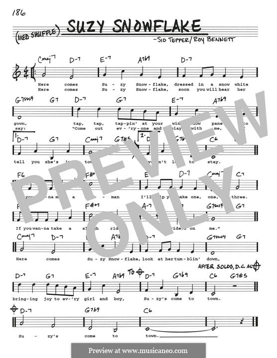 Suzy Snowflake (Rosemary Clooney): For guitar by Roy C. Bennett, Sid Tepper